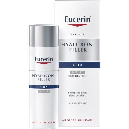Eucerin Hyal-Urea dnevna krema namenjena jednevnoj nezi suve i izrazito suve kože lica sklone borama