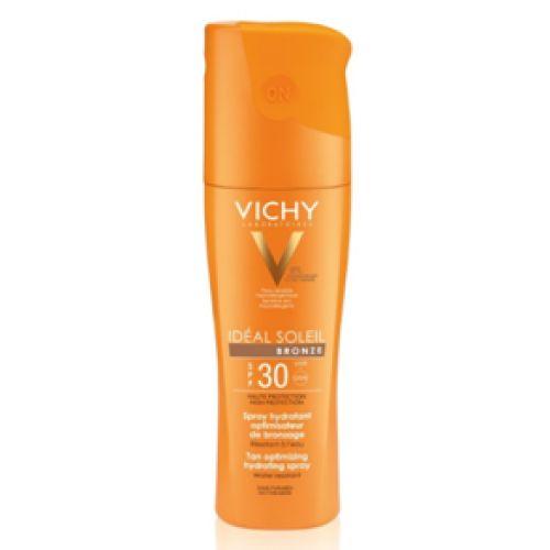 Vichy IDEAL SOLEIL BRONZE HIDRATANTNI SPREJ SPF 30 ZA OPTIMALNU PREPLANULOST  OSETLJIVE KOŽE 200 ml