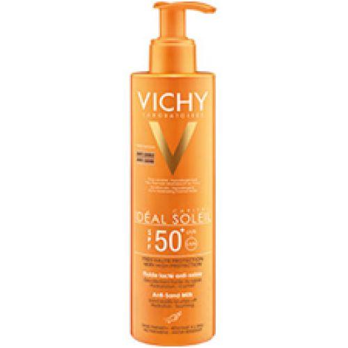 Vichy IDEAL SOLEIL Mleko protiv prilepljivanja peska na kožu SPF 50+ Zaštita za lice i telo