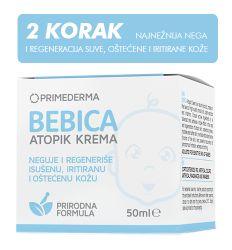 Bebica Atopik krema 50ml - prirodna krema - nega koze bebe - krema za bebe