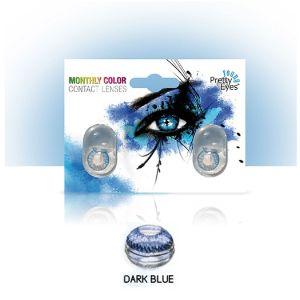 Sočiva u boji bez dioptrije Intervisus color dark blue