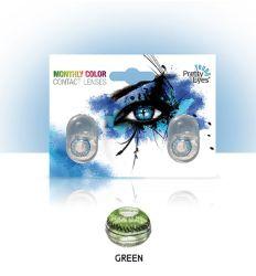 Sočiva u boji bez dioptrije zelena boja.