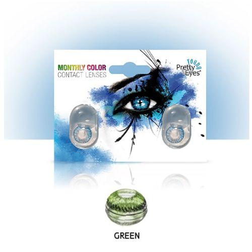 Sočiva u boji bez dioptrije Intervisus color green