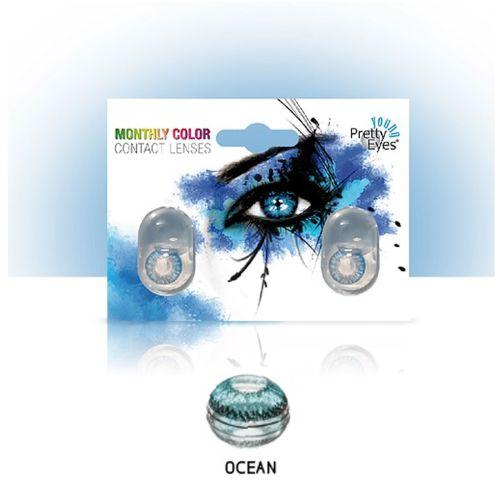 Sočiva u boji bez dioptrije Intervisus color ocean