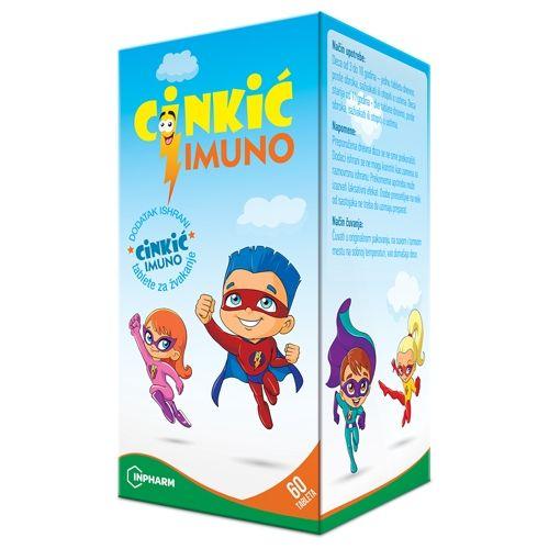 Cinkić Imuno 60 tableta - imunitet kod dece