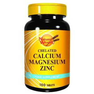 Natural Wealth Helirani kalcijum+magnezijum+cink 100 tableta