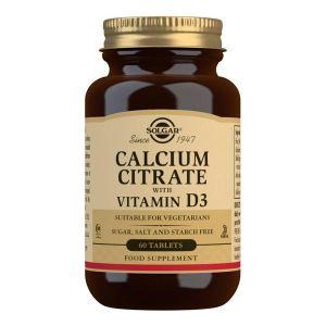 Solgar Kalcijum citrat + vitamin D3, 60 tableta