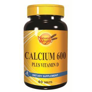 Natural Wealth Kalcijum 600 + vitamin D3 60 tableta