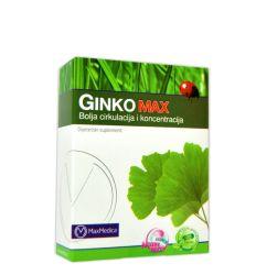 Ginko Max je preparat namenjen boljoj perifernoj cirkulaciji i koncentraciji