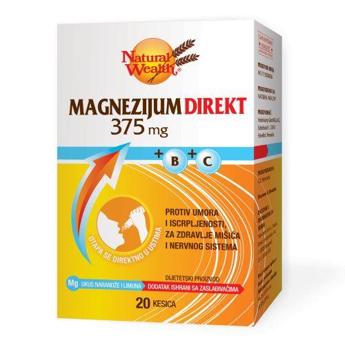 Natural Wealth Magnezijum Direkt 375mg+B+C