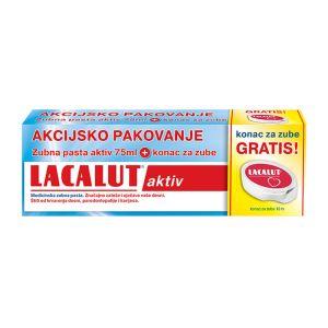 LACALUT pasta aktiv+konac za zube GRATIS
