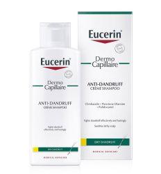 Eucerin Dermo Capillaire krem šampon protiv suve peruti namenjen je za osetljivu kožu glave praćenu suvom peruti