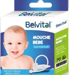 Nosni aspirator Belvital, predstavlja efikasno sredstvo za uklanjanje sekreta iz nosića beba - aspirator za nos za bebe