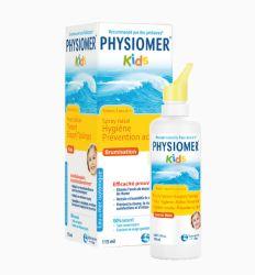 Physiomer kids sprej predstavlja 100% prirodnu, nerazblaženu, morsku i izotoničnu vodu koja potpuno blago i nežno uklanja sekret iz nosnih šupljina kod dece