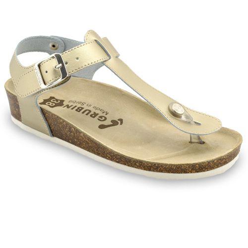 GRUBIN ženske sandale japanke TOBAGO 953670 zlatne