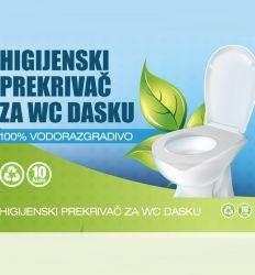 Higijenski prekrivači za wc dasku su izrađeni od 100% vodorazgradivog papira