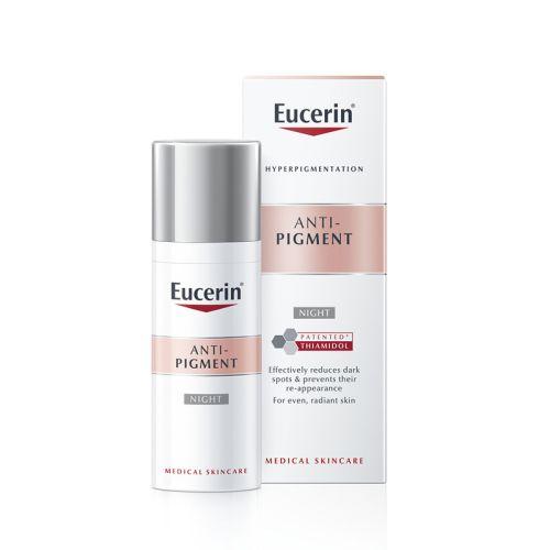 Eucerin Anti-Pigment Noćna krema sadrži Tiamidol efikasan, patentiran sastojak koji deluje na ključni uzrok hiperpigmentacija tako što smanjuje proizvodnju melanina