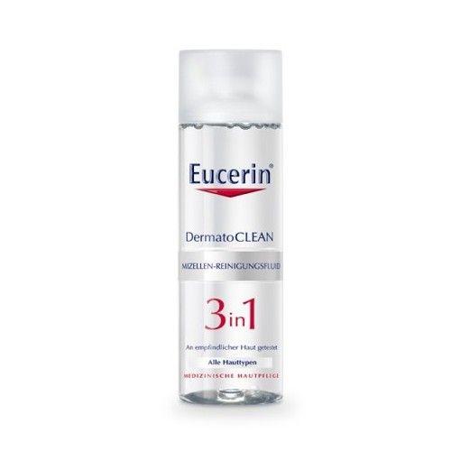 Eucerin DermatoCLEAN 3 u 1 micelarni fluid namenjen jeza čišćenje svih tipova kože
