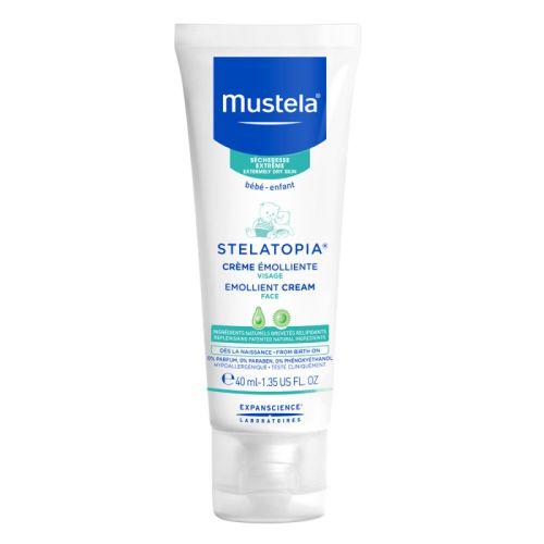 Mustela Stelatopia emolijentna krema za lice, za izuzetno suvu kožu kod novorođenčadi, beba i dece - krema za bebe