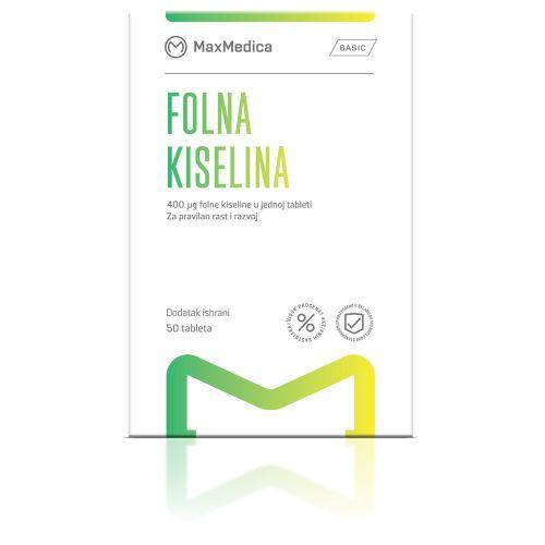 Folna kiselina 400mcg MaxMedica