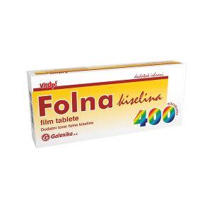 Folna kiselina 400mcg Galenika