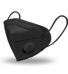 Zaštitna maska KN95 crna sa ventilom