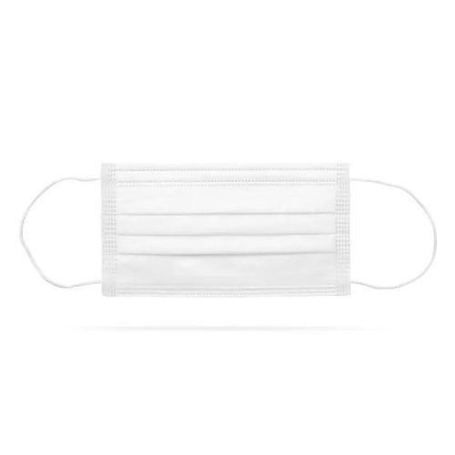 Zaštitna troslojna maska za lice 10 komada bela