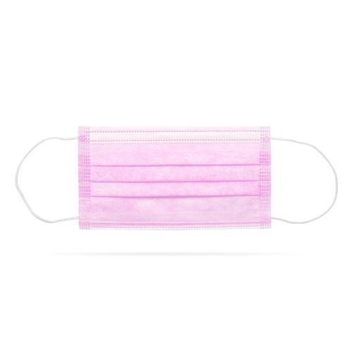 Zaštitna troslojna maska za lice 10 komada roze
