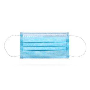 Zaštitna troslojna maska za lice 10 komada plava
