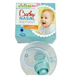 Baby aspirator VIVITAL plus namenjen je za redovno održavanje higijene nosića kod zdrave dece i bebica - aspirator za nos