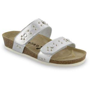 GRUBIN ženska papuča MALTA 0593690 srebrna
