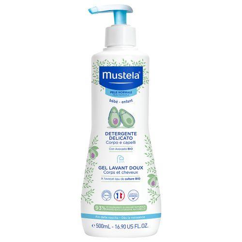 Mustela nežan gel za pranje kose i tela 500ml - gel za ciscenje - gel za bebu