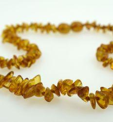 Ogrlica od ćilibara chips med - Baby Line