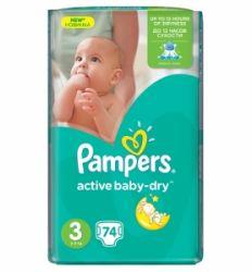 Pampers pelene midi 3 Jumbo pack 4-9 kg 74kom - pelene za bebe