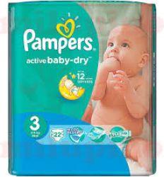 Pampers pelene active baby regular pack 3 midi 4-9kg 20kom - pelene za bebe