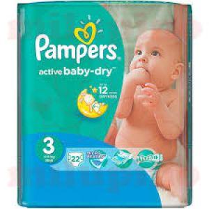 Pampers pelene active baby regular pack 3 midi 4-9kg 20kom