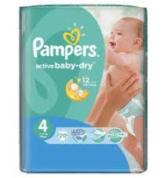Pampers pelene active baby regular pack 4 maxi 7-14kg 17kom - pelene za bebe