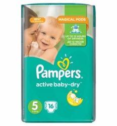 Pampers pelene active baby regular pack 5 junior 11-18kg 15kom - pamucne pelene - pelene za bebe