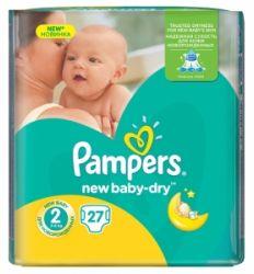 Pampers pelene new baby regular pack 2 mini 3-6kg 22kom - pelene za bebe