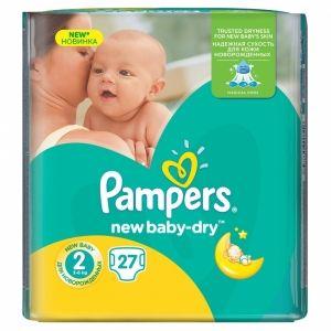 Pampers pelene new baby regular pack 2 mini 3-6kg 22kom